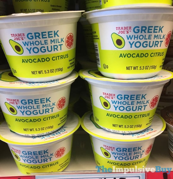 Trader Joe s Avocado Citrus Greek Whole Milk Yogurt