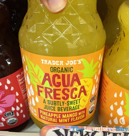 Trader Joe s Organic Aqua Fresca Pineapple Mango with Natural Mint Flavor