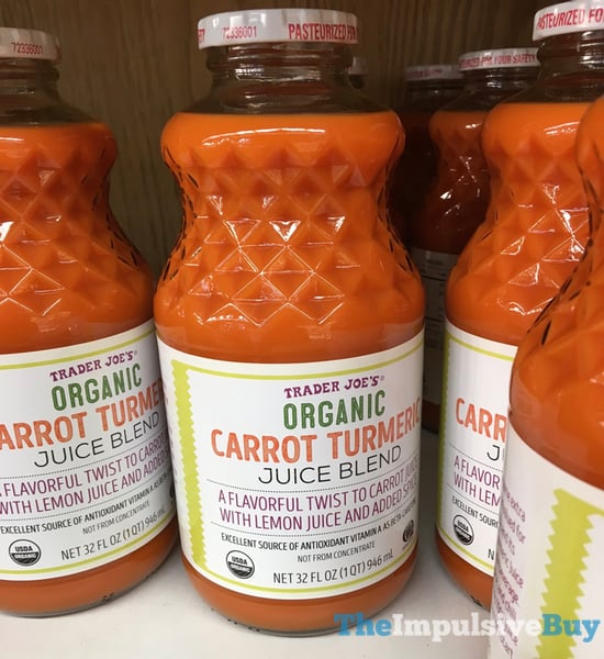 Trader Joe s Organic Carrot Turmeric Juice Blend