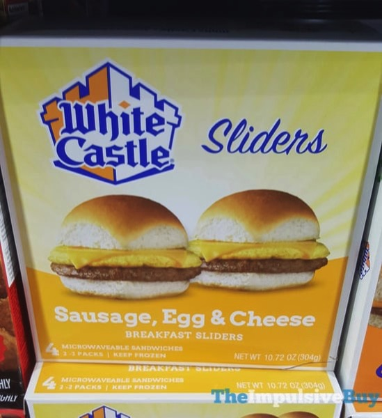 White Castle Sausage Egg  Cheese Breakfast Sliders