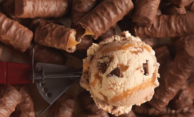 Baskin Robbins Made with Twix Bars Ice Cream