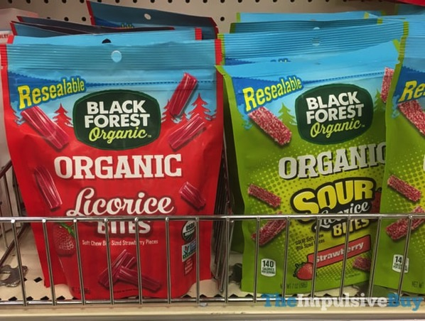 Black Forest Organic Licorice Bites and Strawberry Sour Licorice Bites