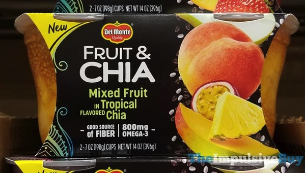 Del Monte Fruit  Chia Mixed Fruit Tropical Chia