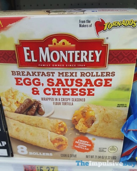 El Monterey Egg Sausage  Cheese Breakfast Mexi Rollers