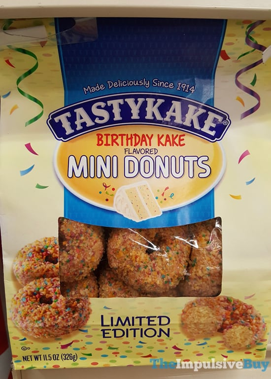 Limited Edition Tastykake Birthday Kake Mini Donuts