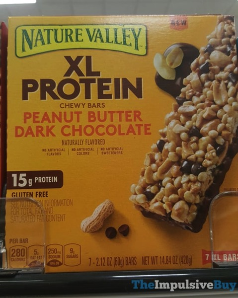 Nature Valley Peanut Butter Dark Chocolate XL Protein Chewy Bars