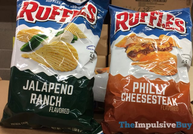 Ruffles Jalapeno Ranch and Philly Cheesesteak Potato Chips
