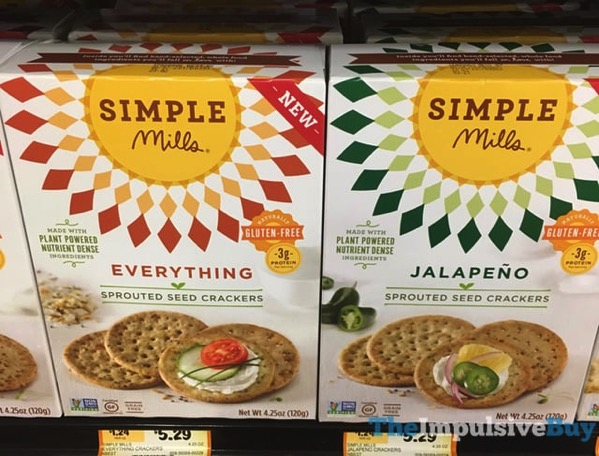 Simple Mills Everything and Jalapeno Sprouted Seed Crackers