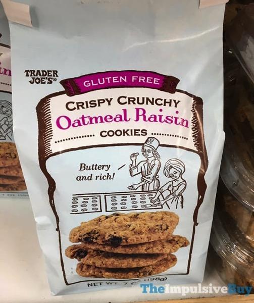 Trader Joe s Gluten Free Crispy Crunchy Oatmeal Raisin Cookies