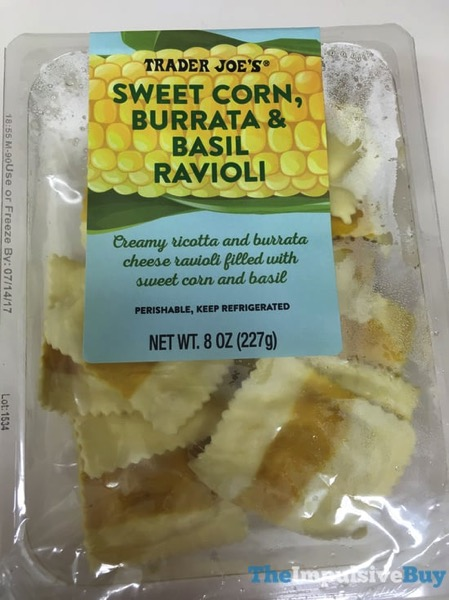 Trader Joe s Sweet Corn Burrata  Basil Ravioli