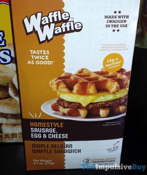 Waffle Waffle Homestyle Sausage Egg  Cheese Maple Belgian Waffle Sandwich