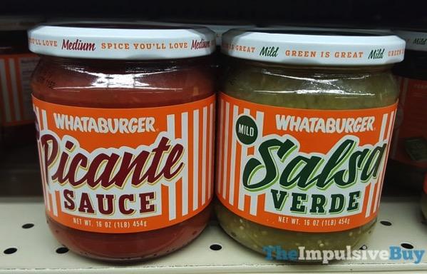 Whataburger Picante Sauce and Salsa Verde