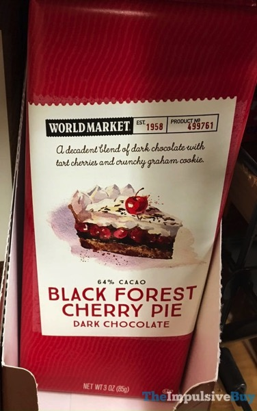 World Market Black Forest Cherry Pie Dark Chocolate Bar