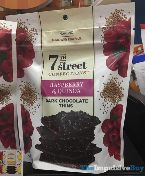 7Th Street Confections Raspberry  Quinoa Dark Chocolate Thins