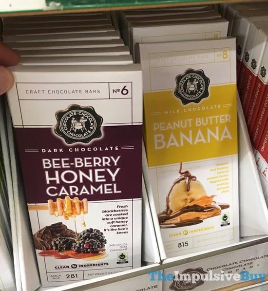 Chocolate Chocolate Chocolate Company Bee Berry Honey Caramel and Peanut Butter Banana Bars