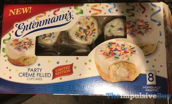 Entenmann s LImited Edition Party Creme Filled Cupcakes