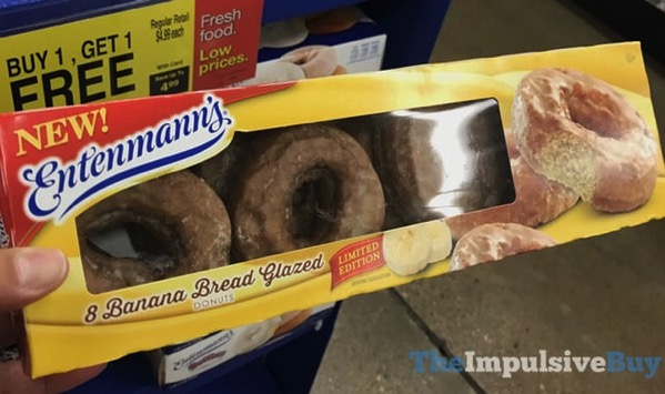 Entenmann s Limited Edition Banana Bread Glazed Donuts