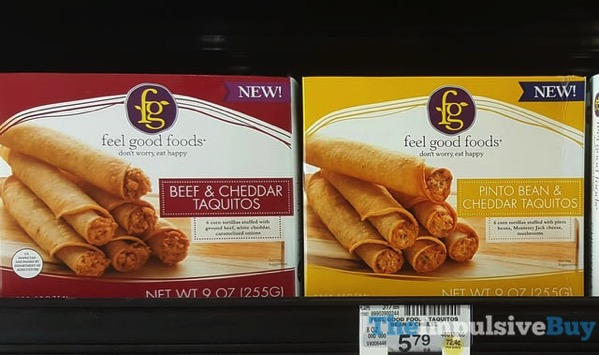 Feel Good Foods  Beef  Cheddar Taquitos and Pinto Bean  Cheddar Taquitos