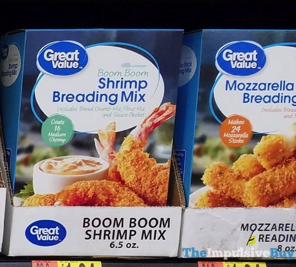 Great Value Boom Boom Shrimp Breading Mix and Mozzarella Stick Breading Mix