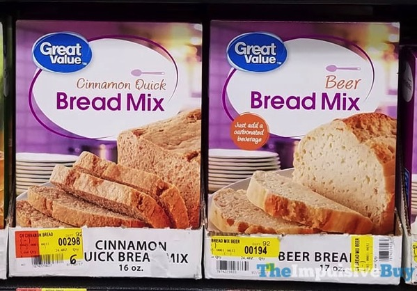 Great Value Cinnamon Quick Bread Mix and Beer Bread Mix