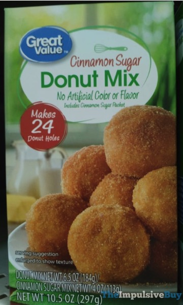 Great Value Cinnamon Sugar Donut Mix