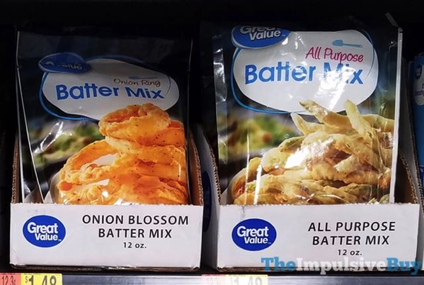Great Value Onion Blossom Batter Mix and All Purpose Batter Mix