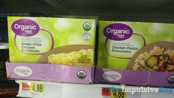 Great Value Organic Green Chile Chicken Enchilada and Chicken Pasta Primavera