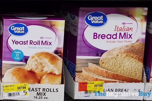 Great Value Yeast Roll Mix and Italian Bread Mix