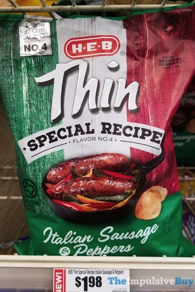 H E B Thin Special Recipe Flavor No 4 Italian Sausage  Peppers Potato Chips