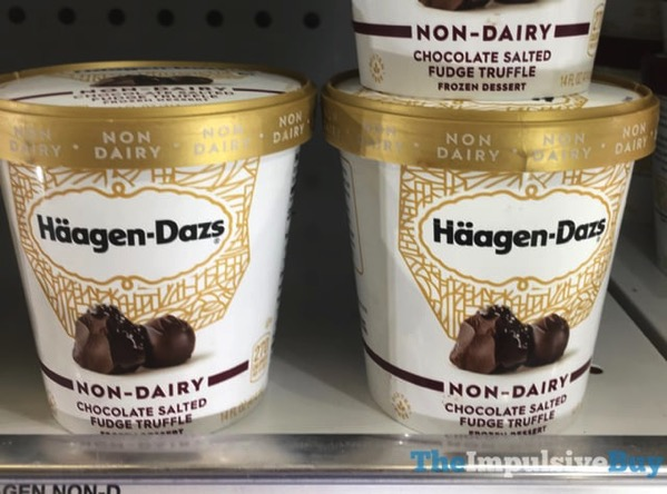 Haagen Dazs Non Dairy Chocolate Salted Fudge Truffle