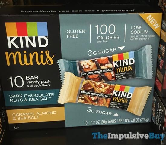 KInd Minis  Dark Chocolate Nuts  Sea Salt and Caramel Almond  Sea Salt