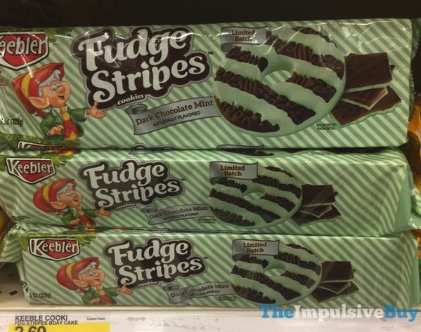 Keebler Limited Batch Dark Chocolate Mint Fudge Stripes Cookies