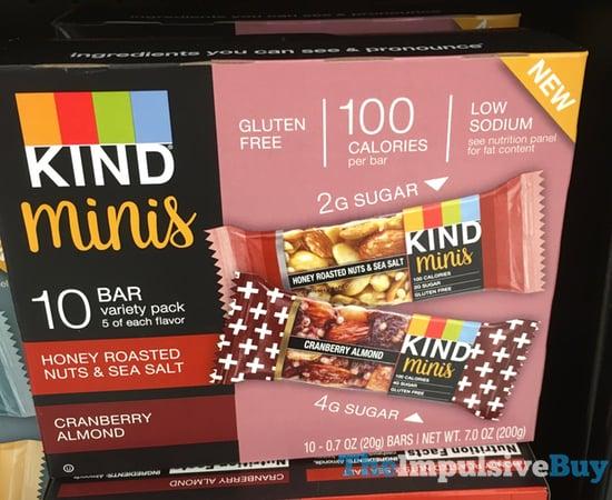 Kind Minis  Honey Roasted Nuts  Sea Salt and Cranberry Almond