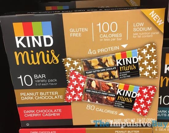 Kind Minis  Peanut Butter Dark Chocolate and Dark Chocolate Cherry Cashew
