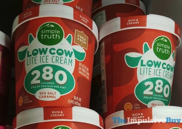 Kroger Simple Truth Low Cow Lite Ice Cream Sea Salt Caramel