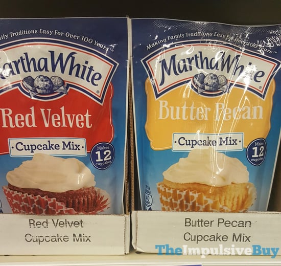 Martha White Red Velvet and Butter Pecan Cupcake Mixes