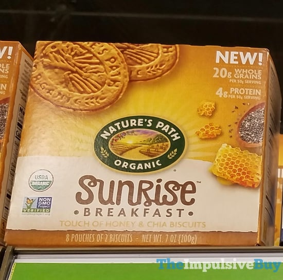 Nature s Path Sunrise Breakfast Touch of Honey  Chia Biscuits
