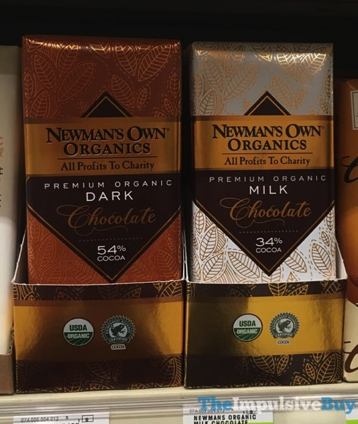 Newman s Own Organics Premium Organic Dark and Milk Chocolate  New Label