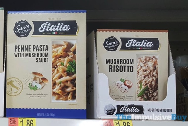 Sam s Choice Italia  Penne Pasta and Mushroom Risotto