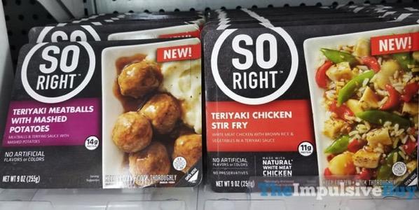 So Right Teriyaki Meatball with Mashed Potatoes and Teriyaki Chicken Stir Fry