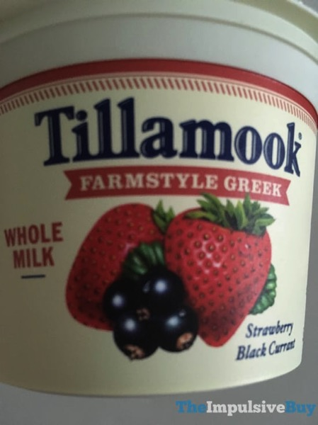Tillamook Farmstyle Greek Whole Milk Strawberry Black Currant Yogurt