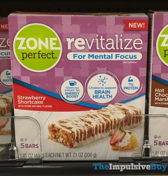 Zone Perfect Revitalize Strawberry Shortcake Bars