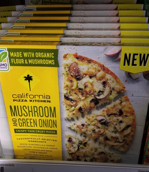 California Pizza Kitchen Mushroom and Green Onion Crispy Thin Crust Pizza