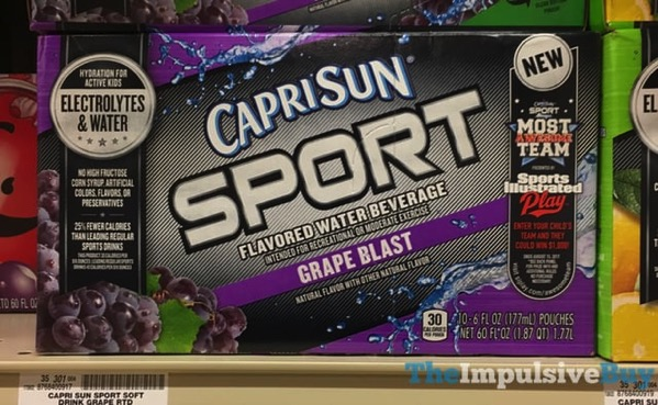 Capri Sun Sport Grape Blast