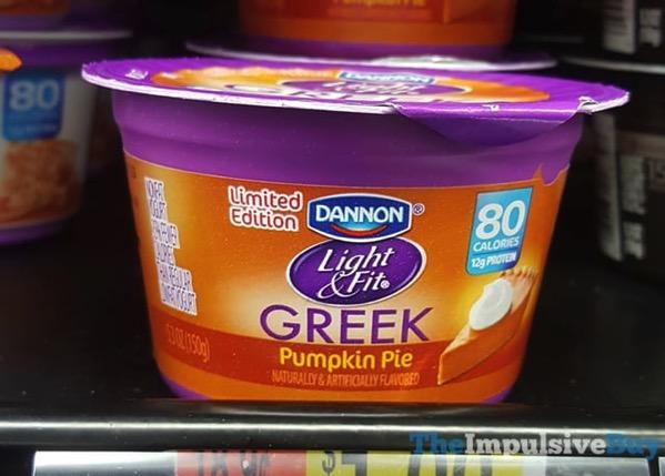 Dannon Limited Edition Light  Fit Pumpkin Pie Greek Yogurt  2017