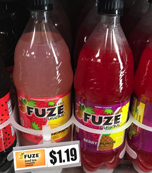Fuze Fusions Strawberry Lemonade and Berry Punch