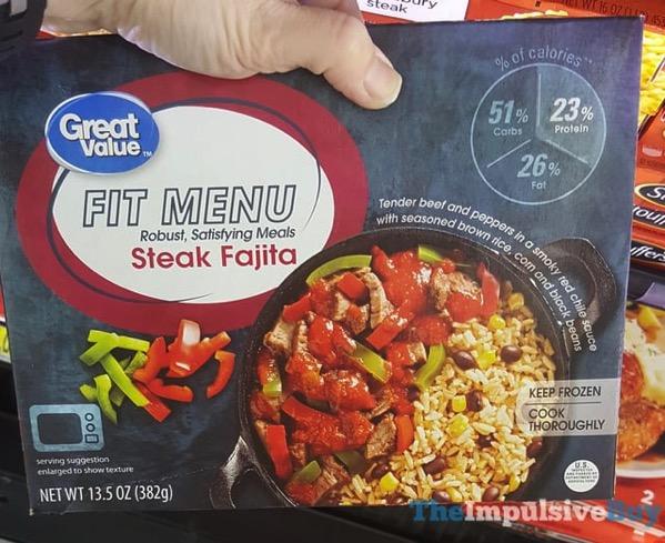 Great Value Fit Menu Steak Fajita