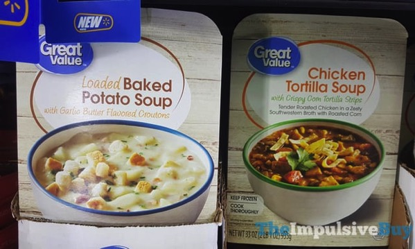 Great Value Loaded Baked Potato Soup and Chicken Tortilla Soup