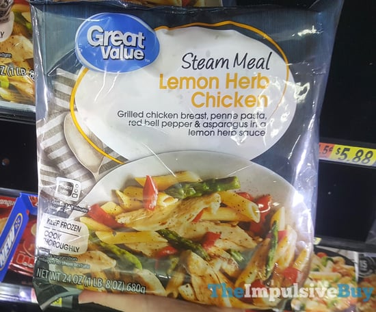 Great Value Steam Meal Lemon Herb Chicken