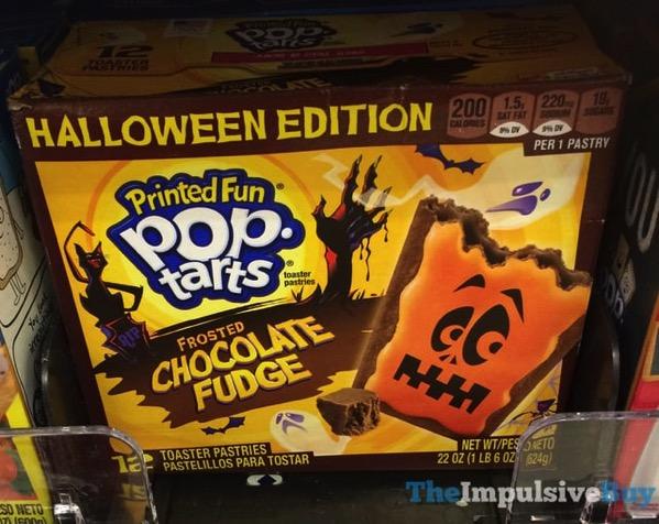 Halloween Edition Frosted Chocolate Fudge Printed Fun Pop Tarts  2017